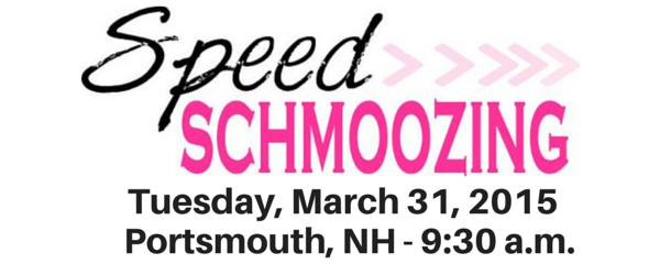 Speed Schmoozing March 31st